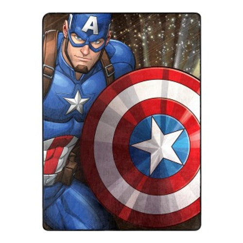 Avengers Our Captain Silk Touch Throw Blanket