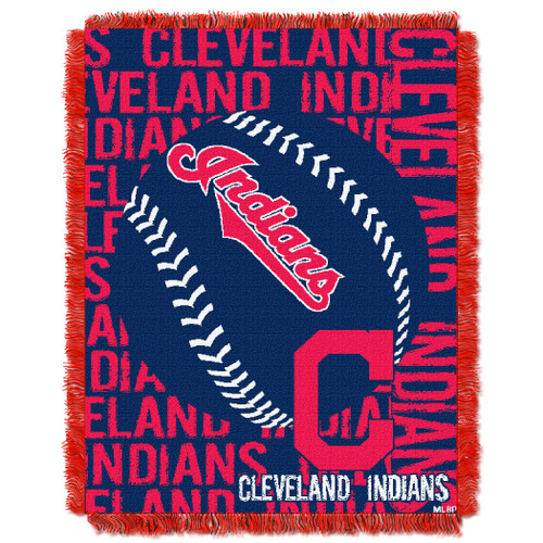 Cleveland Indians Double Play Jacquard Throw