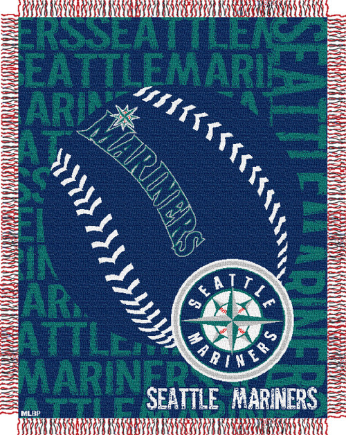Seattle Mariners Double Play Jacquard Throw