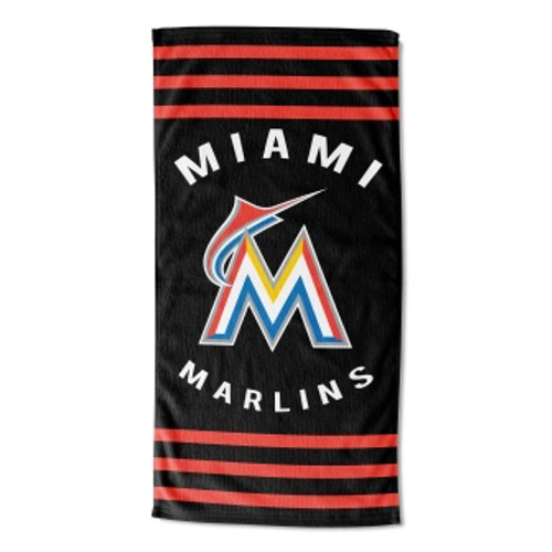 Miami Marlins 30x60 Stripes Beach Towel