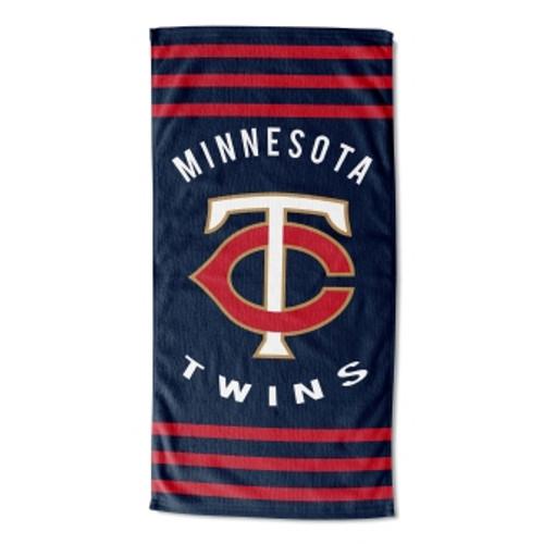 Minnesota Twins 30x60 Stripes Beach Towel