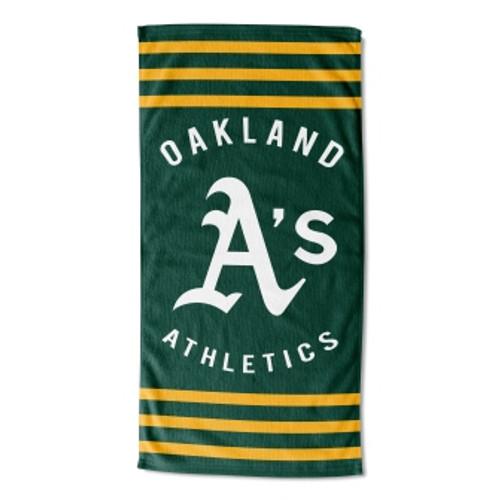 Oakland Athletics 30x60 Stripes Beach Towel