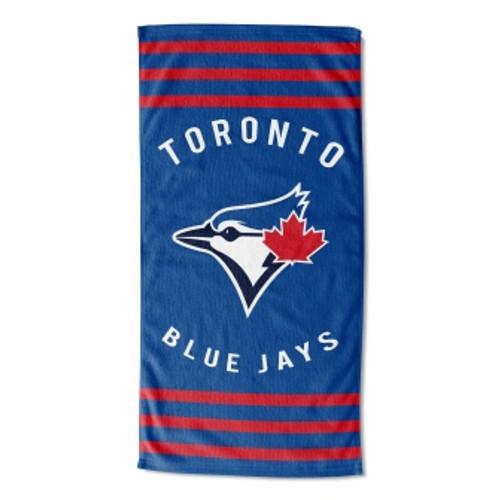 Toronto Blue Jays 30x60 Stripes Beach Towel