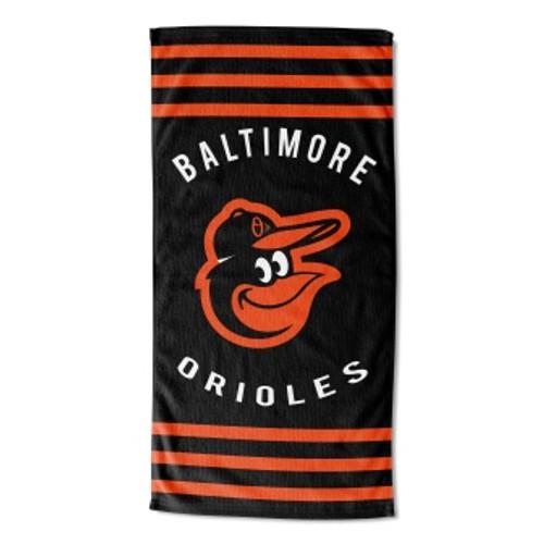 Baltimore Orioles 30x60 Stripes Beach Towel