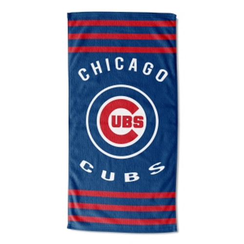 Chicago Cubs 30x60 Stripes Beach Towel