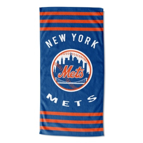 New York Mets 30x60 Stripes Beach Towel