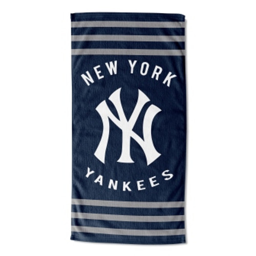 New York Yankees 30x60 Stripes Beach Towel