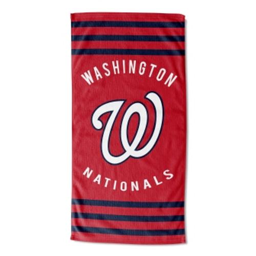 Washington Nationals 30x60 Stripes Beach Towel