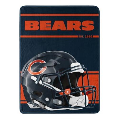 Chicago Bears Run Micro Raschel Throw Blanket