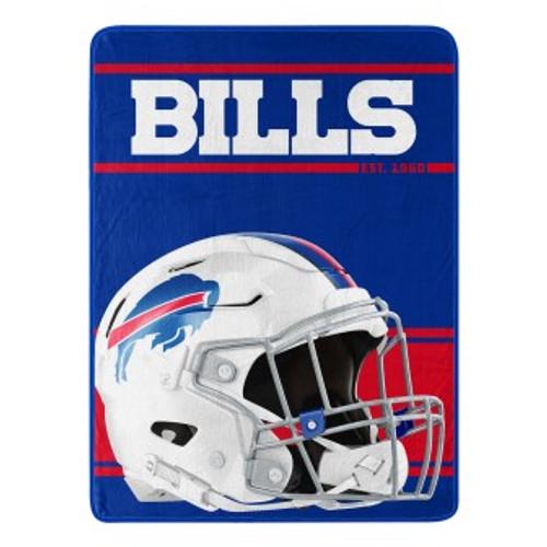 Buffalo Bills Run Micro Raschel Throw Blanket