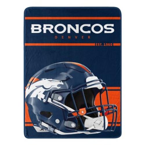 Denver Broncos Run Micro Raschel Throw Blanket