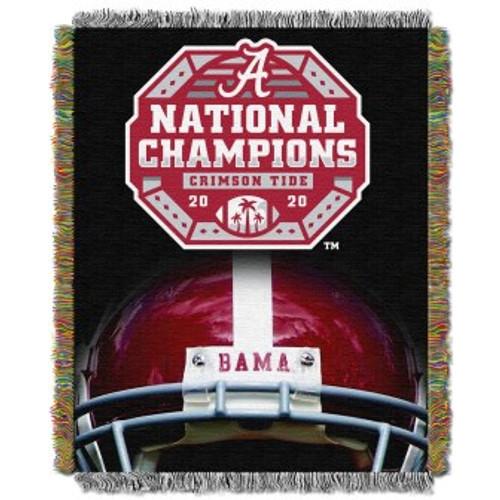 Alabama Crimson Tide 2020 NCAA National Football Champions Woven Tapestry Throw Blanket