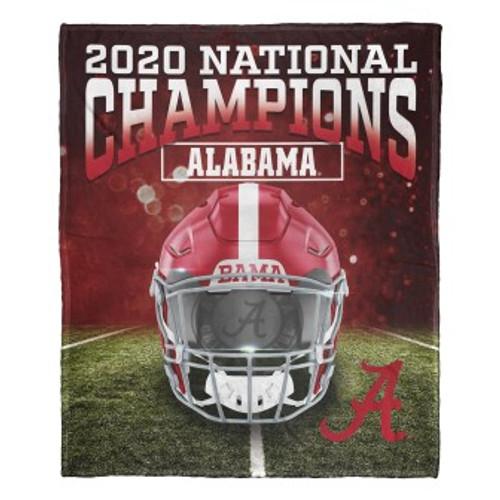 Alabama Crimson Tide 2020 NCAA National Football Champions Silk Touch Throw Blanket
