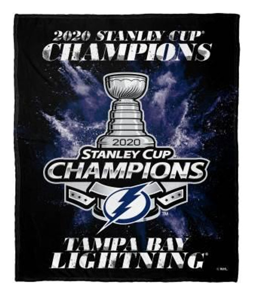 Tampa Bay Lightning NHL 2020 Stanley Cup Champions Silk Touch Throw Blanket