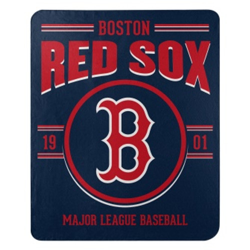 Boston Red Sox Official MLB Southpaw Fleece Throw Blanket