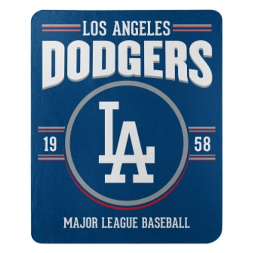 Los Angeles Dodgers Official MLB Southpaw Fleece Throw Blanket