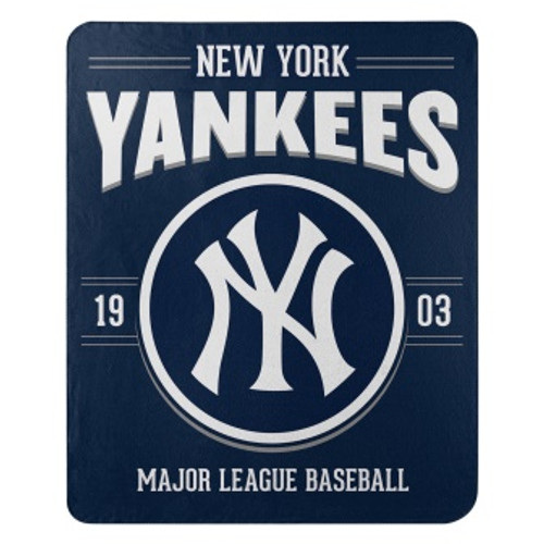 New York Yankees Official MLB Southpaw Fleece Throw Blanket