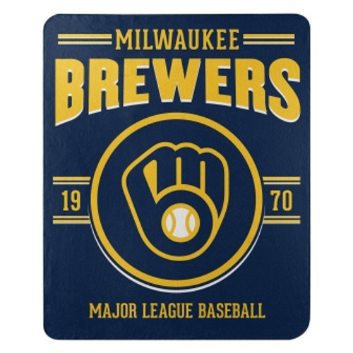 Milwaukee Brewers Official MLB Southpaw Fleece Throw Blanket