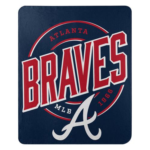 Atlanta Braves Official MLB Campaign Fleece Throw Blanket