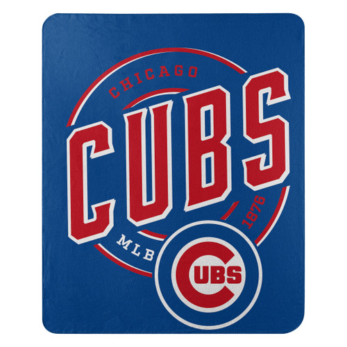 Chicago Cubs Official MLB Campaign Fleece Throw Blanket