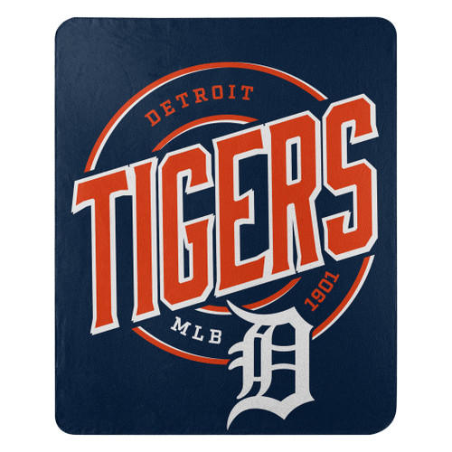 Detroit Tigers Official MLB Campaign Fleece Throw Blanket
