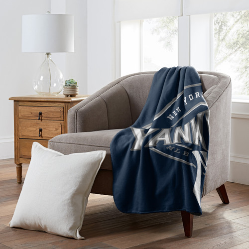 New York Yankees Official MLB Campaign Fleece Throw Blanket