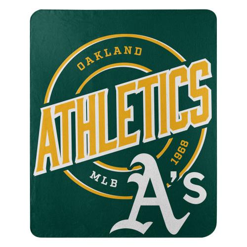 Oakland Athletics Official MLB Campaign Fleece Throw Blanket