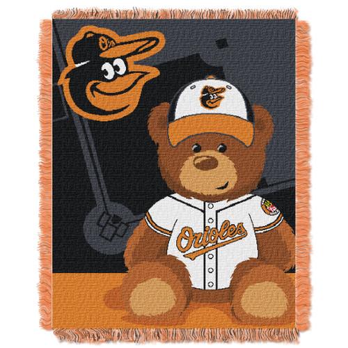 Baltimore Orioles Field Bear Baby Woven Jacquard Throw