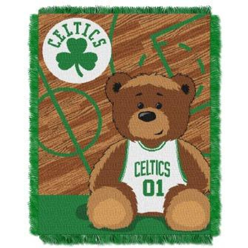 Boston Celtics Baby Woven Jacquard Throw