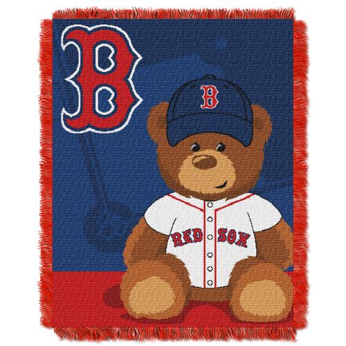 Boston Red Sox Field Bear Baby Woven Jacquard Throw
