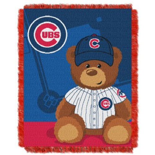 Chicago Cubs Field Bear Baby Woven Jacquard Throw