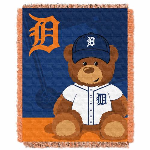 Detroit Tigers Field Bear Baby Woven Jacquard Throw