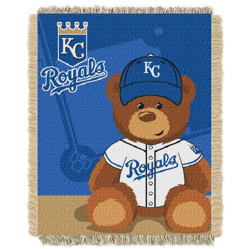 Kansas City Royals Field Bear Baby Woven Jacquard Throw