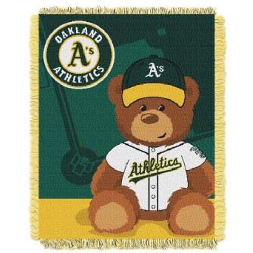 Oakland Athletics Field Bear Baby Woven Jacquard Throw