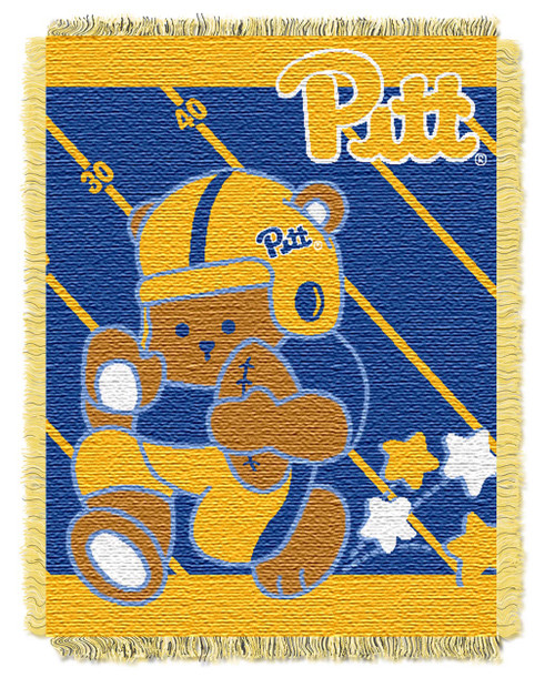 Pittsburgh Panthers Fullback Baby Woven Jacquard Throw