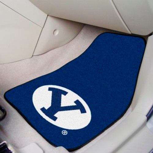 Brigham Young University 2-pc Carpet Car Mat Set