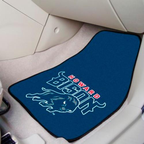 Howard University 2-pc Carpet Car Mat Set