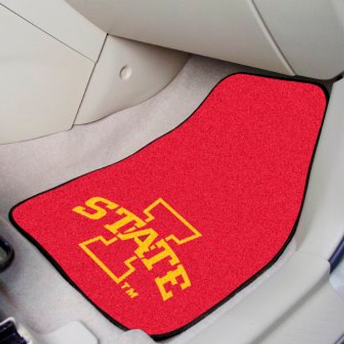Iowa State University 2-pc Carpet Car Mat Set