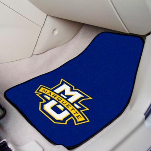 Marquette University 2-pc Carpet Car Mat Set