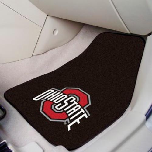 Ohio State University 2-pc Carpet Car Mat Set