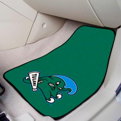Tulane University 2-pc Carpet Car Mat Set