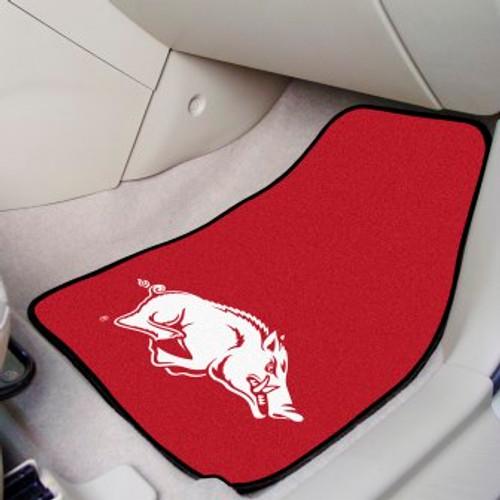 University of Arkansas 2-pc Carpet Car Mat Set