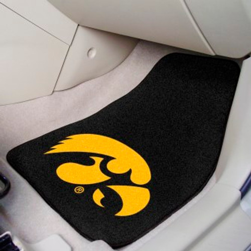 University of Iowa 2-pc Carpet Car Mat Set