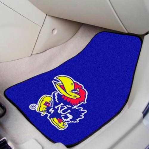 University of Kansas 2-pc Carpet Car Mat Set