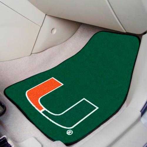 University of Miami 2-pc Carpet Car Mat Set
