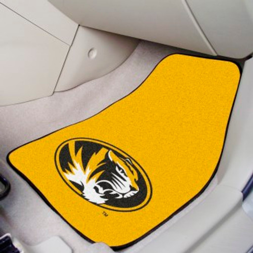 University of Missouri 2-pc Carpet Car Mat Set
