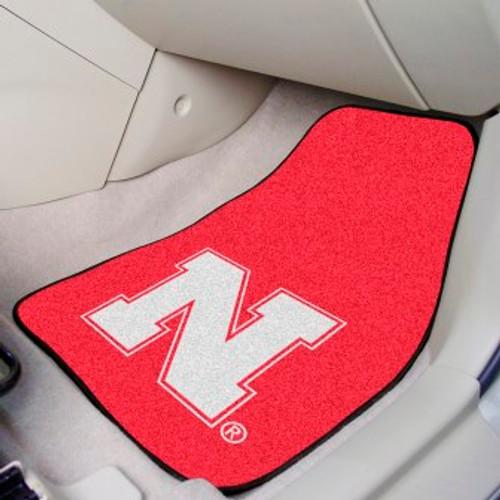 University of Nebraska 2-pc Carpet Car Mat Set
