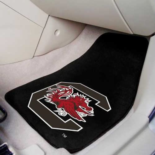 University of South Carolina 2-pc Carpet Car Mat Set