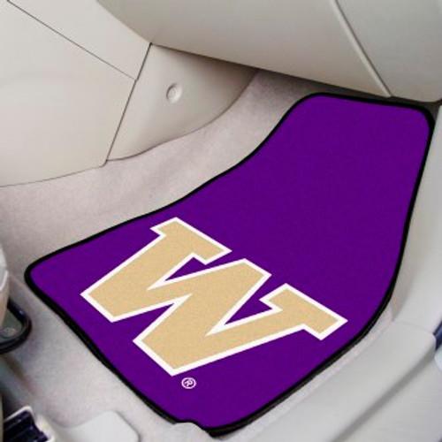 University of Washington 2-pc Carpet Car Mat Set