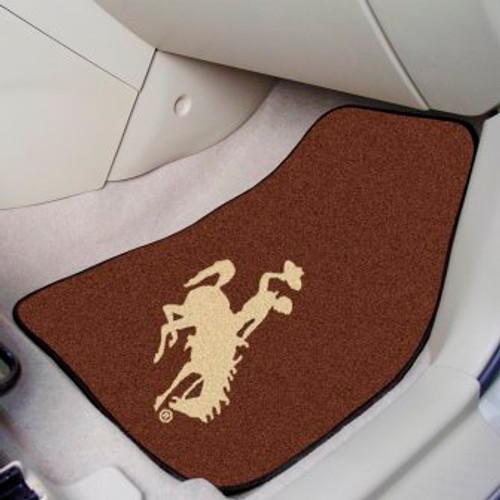University of Wyoming 2-pc Carpet Car Mat Set